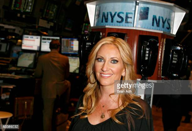 Lee Ann Womack tours the New York Stock Exchange after ringing the closing bell on October 22, 2008 in New York City.
