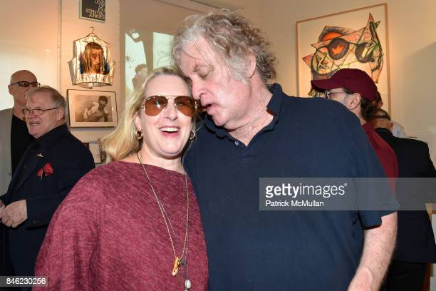 Lee Arthur LaPlante and Charlie Finch attend Love Among the Ruins A Short History of 56 Bleecker Gallery and Late 80s New York Exhibition Opening at...