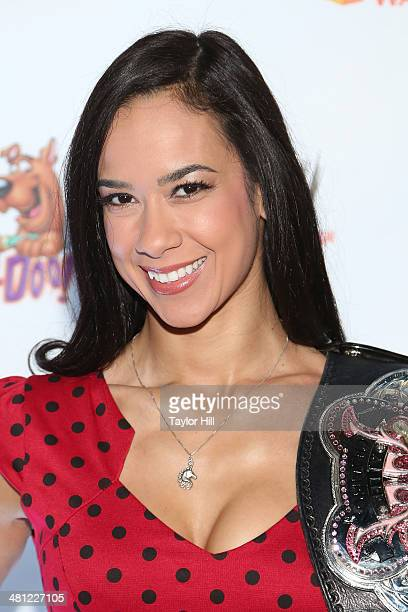 Lee attends Scooby Doo WrestleMania Mystery at Tribeca Cinemas on March 22 2014 in New York City