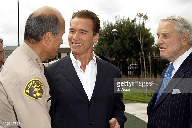 Lee Baca, Arnold Schwarzenegger and Sargent Shriver