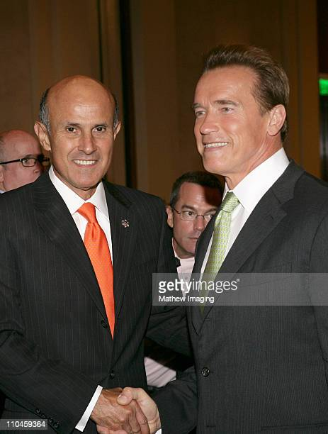 Lee Baca, Sheriff of Los Angeles County and Arnold Schwarzenegger, Governor Of California.