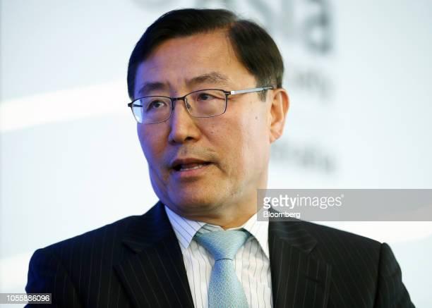 Lee Baeksoon South Korea's ambassador to Australia speaks during a panel at the Bloomberg Asia Society event in Sydney Australia on Thursday Nov 1...