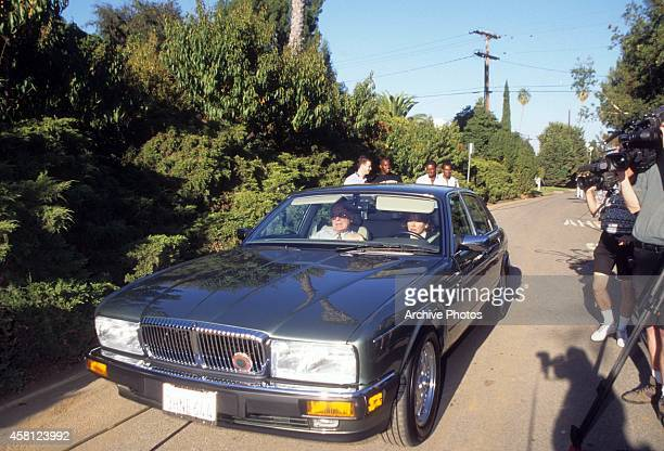 F Lee Bailey Jr defense lawyer for OJ Simpson arrives at OJ's house after the aquittal hearing on October 3 1995 in Brentwood California