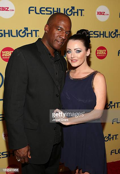 Lee Bang and Sophie Dee attend the 2013 XBIZ Awards at the Hyatt Regency Century Plaza on January 11 2013 in Los Angeles California