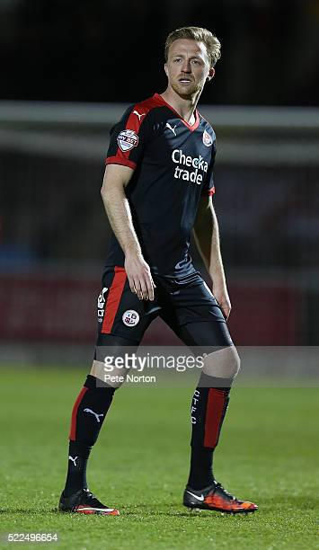 Lee Barnard of Crawley Town in action during the Sky Bet League Two Match between Northampton Town and Crawley Town at Sixfields Stadium on April 19...