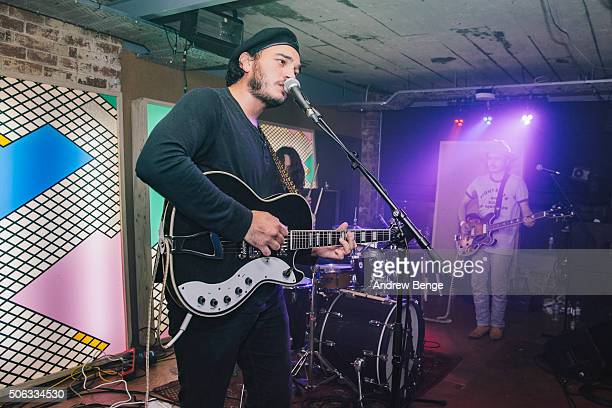 Lee Blackwell of Night Beats peforms on stage at Headrow House on January 22 2016 in Leeds England