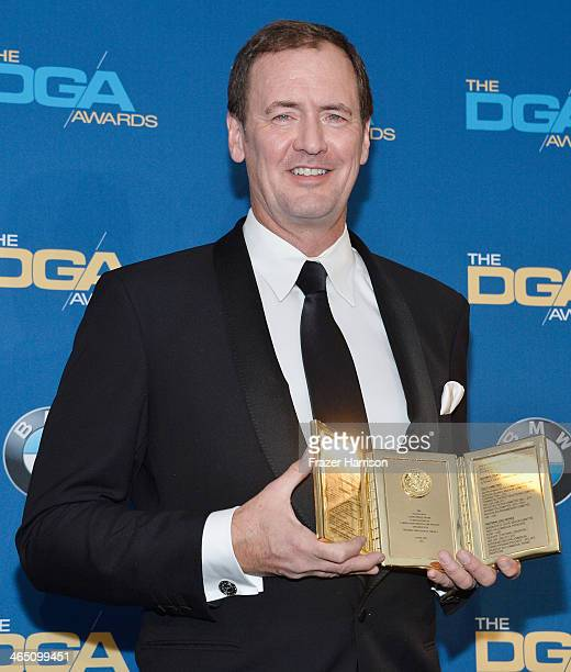Lee Blaine recipient of the Frank Capra Achievement Award poses in the press room during the 66th Annual Directors Guild Of America Awards held at...