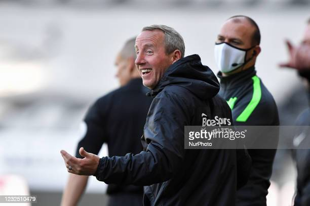 Lee Bowyer, manager of Birmingham City during the Sky Bet Championship match between Derby County and Birmingham City at the Pride Park, Derby, UK on...