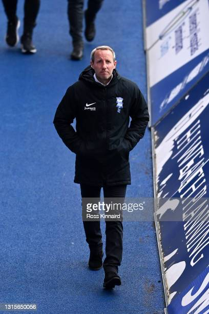 Lee Bowyer, Manager of Birmingham City looks on during the Sky Bet Championship match between Birmingham City and Cardiff City at St Andrew's...