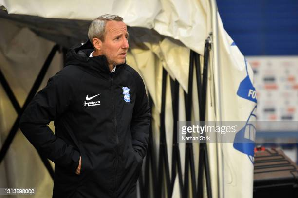 Lee Bowyer, Manager of Birmingham City looks on prior to the Sky Bet Championship match between Birmingham City and Nottingham Forest at St Andrew's...