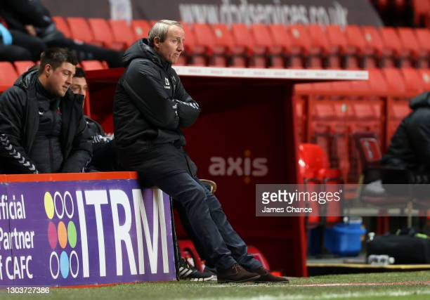 Lee Bowyer, Manager of Charlton Athletic looks dejected during the Sky Bet League One match between Charlton Athletic and Burton Albion at The Valley...