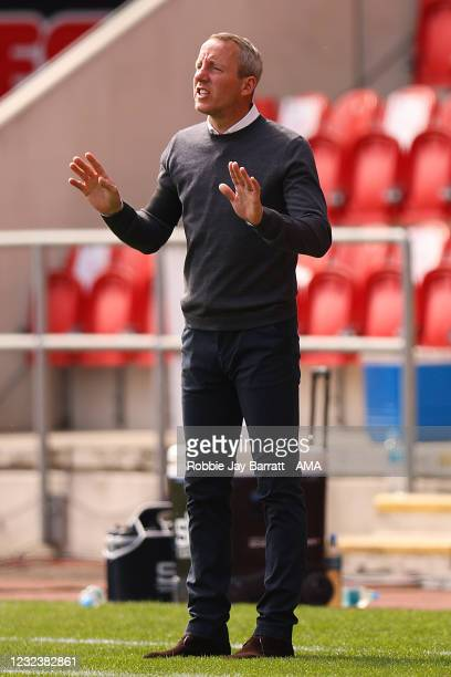 Lee Bowyer the manager / head coach of Birmingham City during the Sky Bet Championship match between Rotherham United and Birmingham City at AESSEAL...