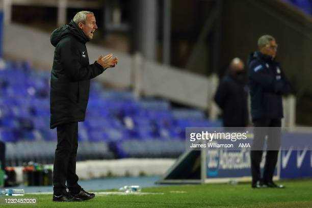 Lee Bowyer the manager / head coach of Birmingham City during the Sky Bet Championship match between Birmingham City and Nottingham Forest at St...
