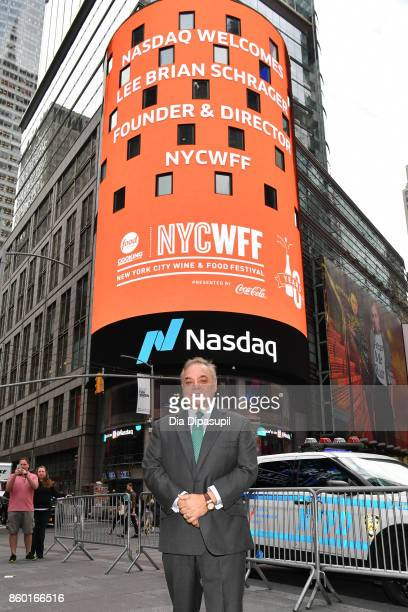 Lee Brian Schrager founder and director of the Food Network Cooking Channel New York City Wine Food Festival presented by CocaCola poses after...