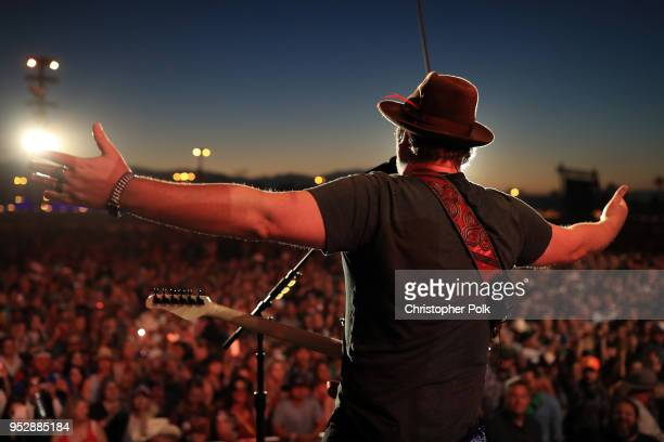 Lee Brice performs onstage during 2018 Stagecoach California's Country Music Festival at the Empire Polo Field on April 29 2018 in Indio California