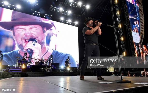 Lee Brice performs onstage during 2018 Stagecoach California's Country Music Festival at the Empire Polo Field on April 29, 2018 in Indio, California.