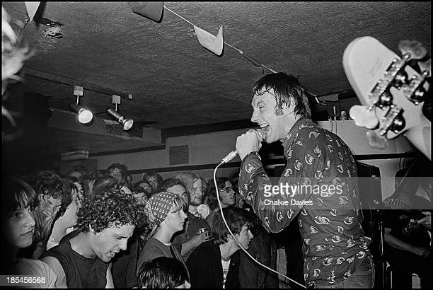 Lee Brilleaux lead singer of Dr Feelgood performs a benefit for the Hope and Anchor in Islington London August 1976