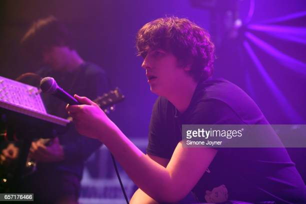 Lee Broadbent of Cabbage performs live on stage at The Roundhouse on March 23 2017 in London United Kingdom