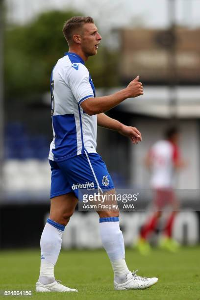 Lee Brown of Bristol Rovers during the Pre Season Friendly match between Bristol Rovers and West Bromwich Albion at Memorial Stadium on July 29 2017...