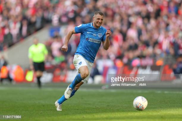 Lee Brown of Portsmouth during the Checkatrade Trophy Final between Sunderland AFC and Portsmouth FC at Wembley Stadium on March 31 2019 in London...