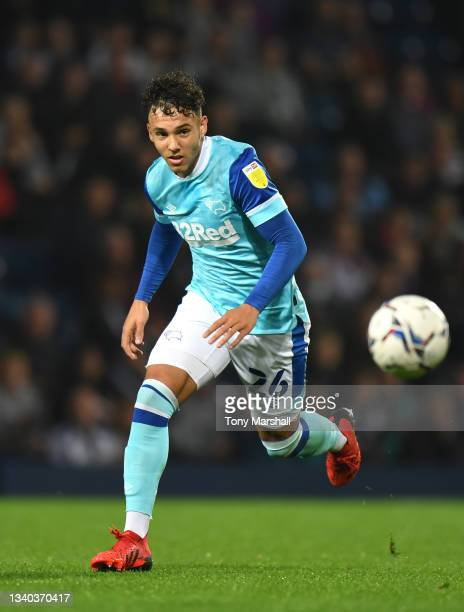 Lee Buchanan of Derby County during the Sky Bet Championship match between West Bromwich Albion and Derby County at The Hawthorns on September 14,...