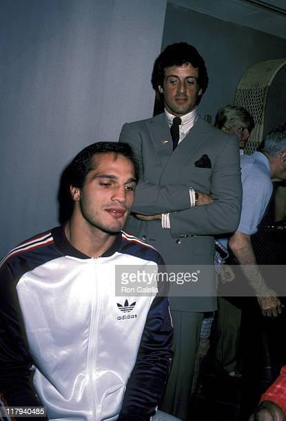Lee Canalito And Sylvester Stallone during Lee Canalito Vs Curtis Whitner Press Conference and WeighIn July 6 1982 at Tropicana Hotel Casino in...