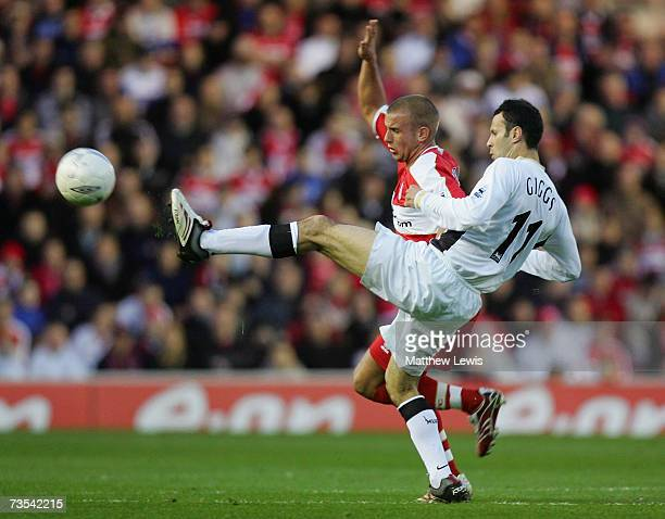Lee Cattermole of Middlesbrough battles for the ball with Ryan Giggs of Manchester United during the FA Cup sponsored by EON Quarter Final match...