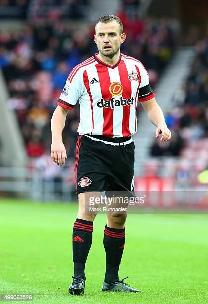 Lee Cattermole of Sunderland in action during the Barclays Premier League match between Sunderland AFC and Stoke City FC at the Stadium of Light on...