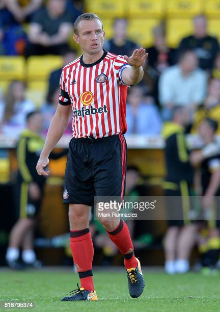 Lee Cattermole of Sunderland in action during the pre season friendly between Livingston and Sunderland at Almondvale Stadium on July 12 2017 in...