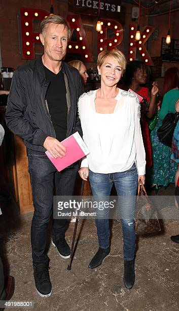 Lee Chapman and Leslie Ash attends Park Theatre's first birthday gala hosted by Sir Ian McKellen at Park Theatre on May 18 2014 in London England