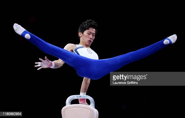 Lee ChihKai of Chinese Taipei competes on Pommel Horse during the Apparatus Finals on Day 9 of the FIG Artistic Gymnastics World Championships at...