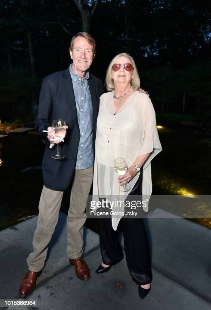 Lee Child and Jane Friedman attend Authors Night At East Hampton Library Private Dinner on August 11 2018 in East Hampton New York