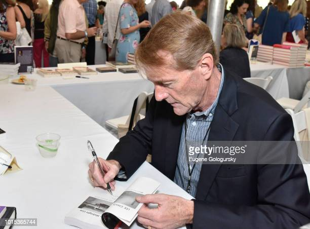Lee Child attends Authors Night At East Hampton Library on August 11 2018 in East Hampton New York