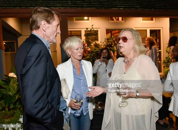 Lee Child Joanna Coles and Jane Friedman attend Authors Night At East Hampton Library Private Dinner on August 11 2018 in East Hampton New York