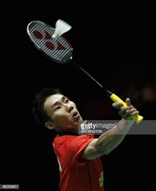 Lee Chong Wei of Malaysia plays against Marc Zwiebler of Germany during The Yonex All England Open Badminton Championships second round at The...