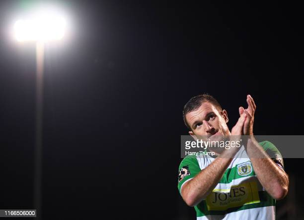 Lee Collins of Yeovil Town during the Vanarama National League match between Yeovil Town and Eastleigh FC at Huish Park on August 06, 2019 in Yeovil,...