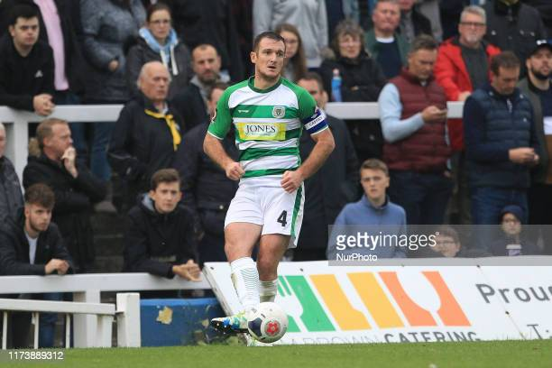 Lee Collins of Yeovil Town in action during the Vanarama National League match between Hartlepool United and Yeovil Town at Victoria Park, Hartlepool...