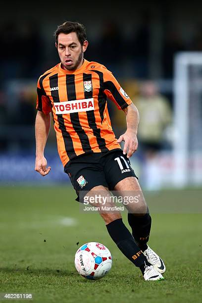 Lee Cook of Barnet in action during the Vanarama Football Conference League match between Barnet and Southport at The Hive on January 24 2015 in...