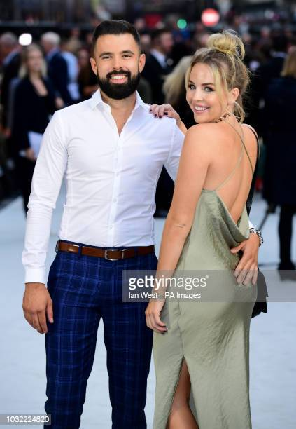 Lee Cronin and Lydia Bright arriving for the King of Thieves World Premiere held at Vue West End Leicester Square London