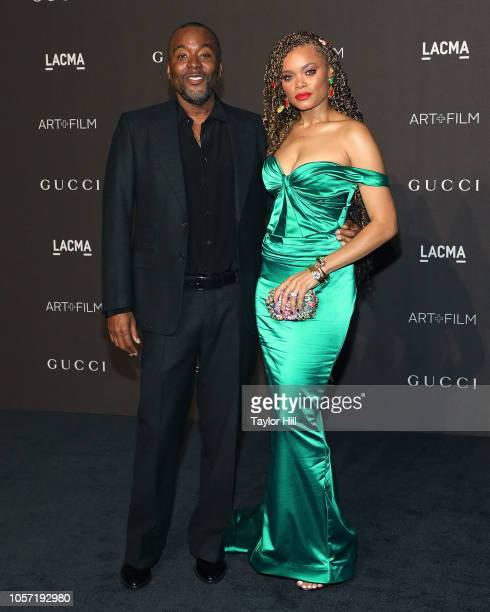 Lee Daniels and Andra Day attend the 2018 LACMA ArtFilm Gala at LACMA on November 3 2018 in Los Angeles California