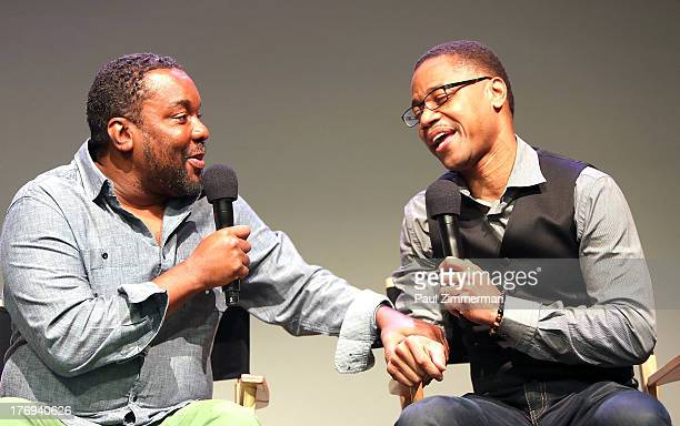 Lee Daniels and Cuba Gooding Jr attend Meet The Filmmaker Lee Daniels at the Apple Store Soho on August 19 2013 in New York City