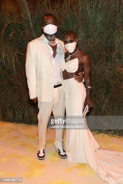 Lee Daniels and Cynthia Erivo attend the The 2021 Met Gala Celebrating In America: A Lexicon Of Fashion at Metropolitan Museum of Art on September...