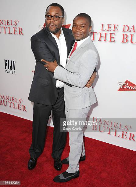 Lee Daniels and David Oyelowo arrives at the 'Lee Daniels' The Butler' Los Angeles Premiere at Regal Cinemas LA Live on August 12 2013 in Los Angeles...