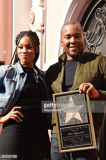 Lee Daniels and his daughter Clara Daniels attend the ceremony honoring Lee Daniels with a Star on the Hollywood Walk of Fame on December 2 2016 in...
