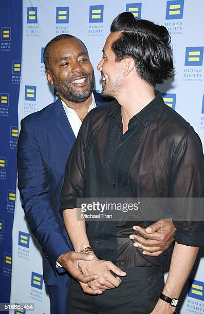 Lee Daniels and Jahil Fisher arrive at the Human Rights Campaign 2016 Los Angeles Gala dinner held at JW Marriott Los Angeles at LA LIVE on March 19...