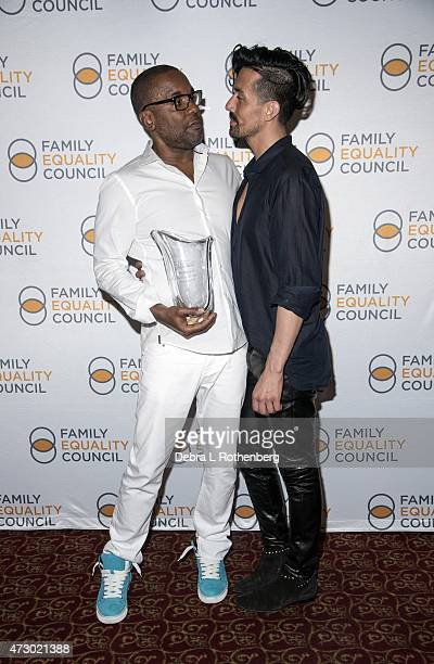 Lee Daniels and Jahil Fisher attend the 10th Annual Family Equality Council Night At The Pier at Pier 60 on May 11 2015 in New York City