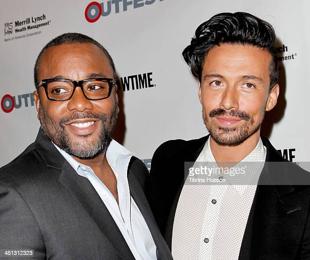 Lee Daniels and Jahil Fisher attend the 2013 Outfest Legacy Awards at Orpheum Theatre on November 21 2013 in Los Angeles California