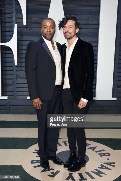 Lee Daniels and Jahil Fisher attend the 2017 Vanity Fair Oscar Party hosted by Graydon Carter at Wallis Annenberg Center for the Performing Arts on...