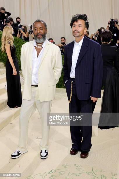 Lee Daniels and Jahil Fisher attend The 2021 Met Gala Celebrating In America: A Lexicon Of Fashion at Metropolitan Museum of Art on September 13,...