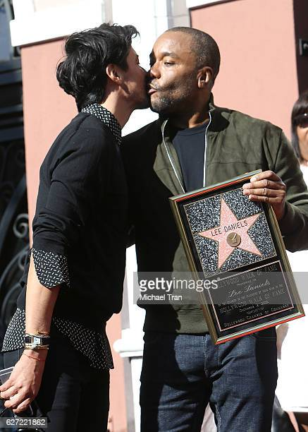 Lee Daniels and Jahil Fisher attend the ceremony honoring Lee Daniels with a Star on The Hollywood Walk of Fame held on December 2 2016 in Hollywood...